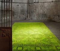 Kelim Teppich grün